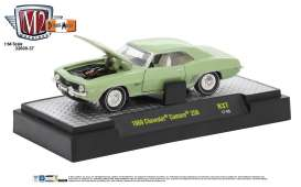 M2 Machines - Chevrolet  - M2-32600-37D : 1969 Chevrolet Camaro *Detroit-Muscle Release 37* frost green metallic