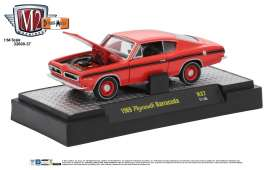M2 Machines - Plymouth  - M2-32600-37E : 1969 Plymouth Barracuda *Detroit-Muscle Release 37* matador red/black stripes