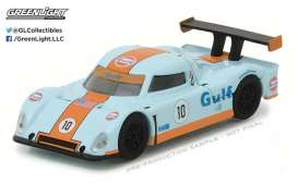 GreenLight - Ford  - gl41030F : 1/64 Grand-Am Daytona Prototype *Gulf Oil* Running on Empty Series 3, gulf blue/orange