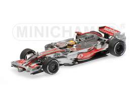 Minichamps - McLaren  - mc530084352 : 2008 McLaren MP 4-23 L. Hamilton GP Brazil, silver/red