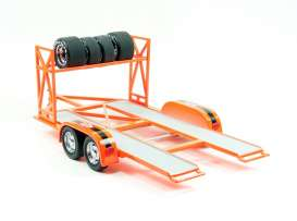 Acme Diecast - Trailer Accessoires - acme18842 : 1/18 Trailer *STP*, orange/black. !!Extra set of Tires NOT Included!!