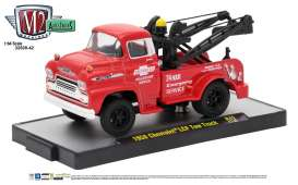M2 Machines - Chevrolet  - M2-32500-42B : 1958 Chevrolet LCF Tow Truck *Auto-Trucks Release 42*, bright red