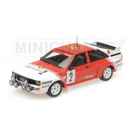 Audi  - 1985 red/white - 1:18 - Minichamps - mc155851102 | Tom's Modelauto's