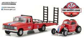 GreenLight - Ford Dragster - gl33100C : 1968 Ford F-350 Ramp Truck with Topo Fuel Altered dragster on the back *H.D. Truck series 10*