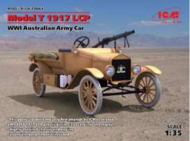 ICM - Ford Military Vehicles - icm35663 : 1917 Ford Model T LCP, WWI Australian Army Car, plastic modelkit