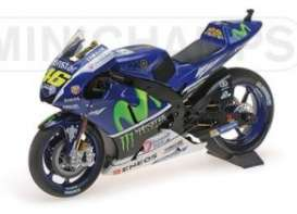 Minichamps - Yamaha  - mc122163246 : 2016 Yamaha YZR-M1 Movistar Yamaha MotoGP Valentino Rossi Test Bike 2016, blue/green