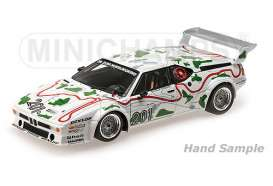 Minichamps - BMW  - mc125802901 : 1980 BMW M1 BMW Motorsport Stuck/Piquet ADAC 1000km Nurburgring, white/green
