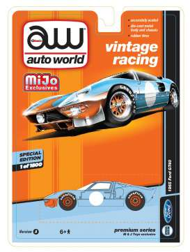 Auto World - Ford  - AWcp7431 : 1965 Ford GT40 Vintage Racing, gulf blue/orange