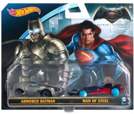 Hotwheels - Batman Assortment/ Mix - hwmvDJP09 : 1/64 Armored Batman & Man of Steel *Double set*, Batman VS Superman