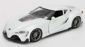 Jada Toys - Toyota  - jada98416WA1pw : 1/24 Toyota FT-1 Concept JDM Tuners, pearl white