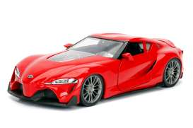 Jada Toys - Toyota  - jada98416WA1r : 1/24 Toyota FT-1 Concept JDM Tuners, glossy red