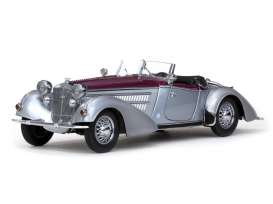 Horch  - 1939 silver/dark red - 1:18 - SunStar - 2402 - sun2402 | Toms Modelautos