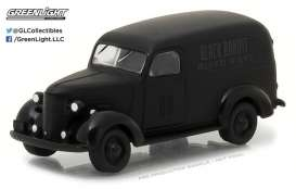 GreenLight - Chevrolet  - gl27930F : 1939 Chevrolet Panel Van *Black Bandit Series 18*, black