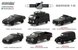 GreenLight - Assortment/ Mix  - gl27930~12 : 1/64 Black Bandit Series 18, assortment of 12