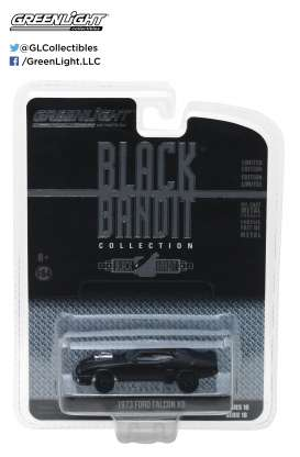 GreenLight - Ford  - gl27930A : 1973 Ford Falcon XB (Flat Black) *Black Bandit Series 18*, black