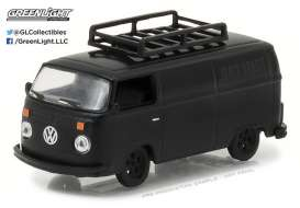 GreenLight - Volkswagen  - gl27930B : 1974 Volkswagen Type 2 Panel Van *Black Bandit Series 18*, black
