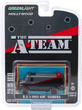 GreenLight - GMC  - gl44790B : 1983 GMC Vandura *The A-Team* (1983-87 TV Series) Hollywood series 19, black/red/grey