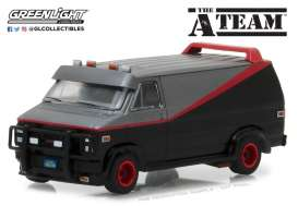 GMC  - 1983 black/red/grey - 1:64 - GreenLight - gl44790B | Tom's Modelauto's
