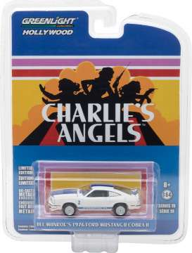 GreenLight - Ford  - gl44790A : 1976 Ford Mustang Cobra II *Charlie's Angels (1976–81 TV Series)* Hollywood series 19, white/blue