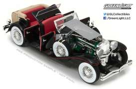 Duesenberg  - silver/black - 1:18 - GreenLight - 13504 - gl13504 | Tom's Modelauto's