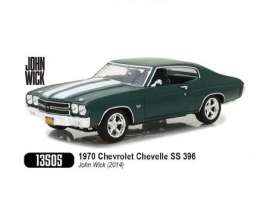 Chevrolet  - Chevelle SS396 1970 green/white - 1:18 - GreenLight - gl13505 | Tom's Modelauto's