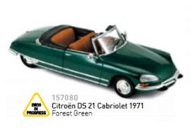 Citroen  - 1971 forest green - 1:43 - Norev - 157080 - nor157080 | Tom's Modelauto's