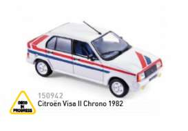 Norev - Citroen  - nor150942 : 1982 Citroen Visa II Chrono, white/blue/red