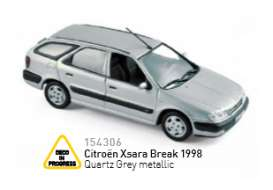 Norev - Citroen  - nor154306 : 1998 Citroen Xsara Break, quartz grey metallic