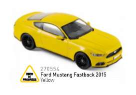 Norev - Ford  - nor270554 : 2015 Ford Mustang Fastback, yellow