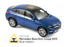 Mercedes Benz  - 2015 blue metallic - 1:43 - Norev - 351338 - nor351338 | Toms Modelautos
