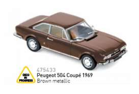 Norev - Peugeot  - nor475433 : 1969 Peugeot 504 Coupé, brown metallic