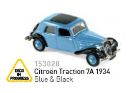 Citroen  - 1934 blue/black - 1:87 - Norev - nor153028 | Tom's Modelauto's