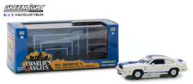 Ford  - Mustang Cobra II 1976 white/blue - 1:43 - GreenLight - 86516 - gl86516 | Tom's Modelauto's