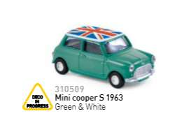 Mini  - 1963 green/white - 1:64 - Norev - nor310509 | Tom's Modelauto's