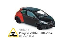 Norev - Peugeot  - nor310606 : 2014 Peugeot 208 GTi 30th, red/black
