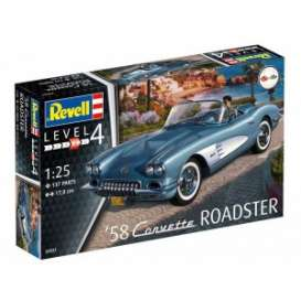 Corvette  - 1958  - 1:25 - Revell - Germany - 07037 - revell07037 | Toms Modelautos