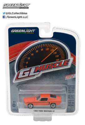 GreenLight - Ford  - gl13190A : 1968 Ford Mustang GT *Muscle Series 19*, orange