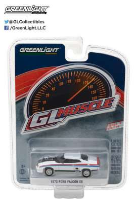 GreenLight - Ford  - gl13190E : 1973 Ford Falcon XB Custom  *Muscle Series 19*, white/red/blue