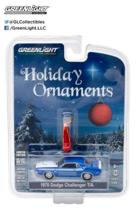 GreenLight - Dodge  - gl37120E : 1970 Dodge Challenger T/A *GreenLight Holiday Ornaments Series 2*