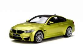 BMW  - M4 Competition Package austin yellow - 1:18 - GT Spirit - GT164 | Tom's Modelauto's