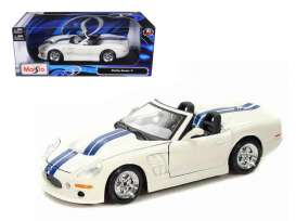 Maisto - Shelby  - mai31142w : 1999 Shelby Series 1 *Special Edition*, white/blue