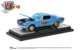 M2 Machines - Ford  - M2-40300-55B : 1966 Ford Mustang 2+2 GT, blue metallic