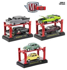 M2 Machines - Assortment/ Mix  - m2-33000-15~6 : *Auto Lift release 15* 2 cars and 1 lift assortment of 6