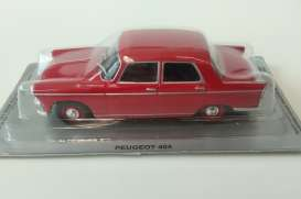 Peugeot  - 404 1960 red - 1:43 - Magazine Models - PC404r - MagPC404r | Tom's Modelauto's