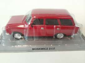 Moskwitch  - red - 1:43 - Magazine Models - magPL57 | Tom's Modelauto's