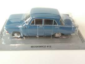 Magazine Models - Moskwitch  - magPL26Moskwitch : Moskwitch 412, blue
