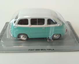 Fiat  - 600 Multipla blue/white - 1:43 - Magazine Models - PCfi600multi - magPCfi600multi | Tom's Modelauto's