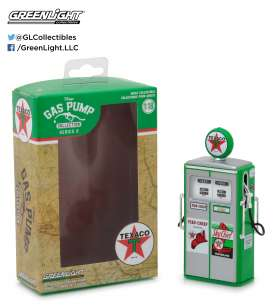 GreenLight - Accessoires diorama - gl14020C : 1/18 1954 Tokheim 350 Twin - Sky Chief-Fire Chief Texaco Gas Pump *Vintage Gas Pumps Series 2* green/red/white
