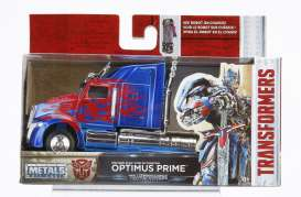 Jada Toys - Transformers Western Star - jada98398 : 1/32 Western Star 5700 XE Phantom Transformers 5 Optimus Prime in Nice Transformers 5 Packaging & Robot on the Chassis.