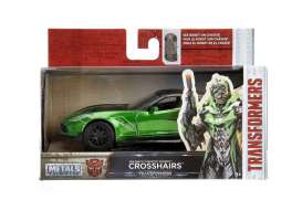 Jada Toys - Transformers Corvette - jada98397 : 1/32 Corvette Stingray Transformers 5 Crosshairs in Nice Transformers 5 Packaging & Robot on the Chassis.